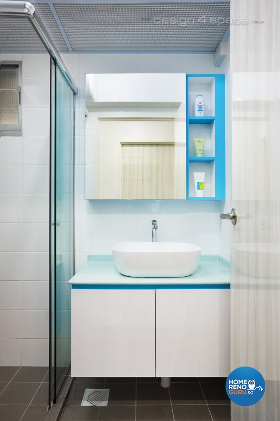 Contemporary Design - Bathroom - HDB 4 Room - Design by Design 4 Space Pte Ltd