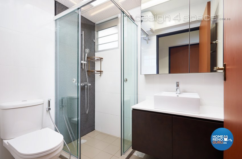 Contemporary, Industrial, Scandinavian Design - Bathroom - HDB 4 Room - Design by Design 4 Space Pte Ltd