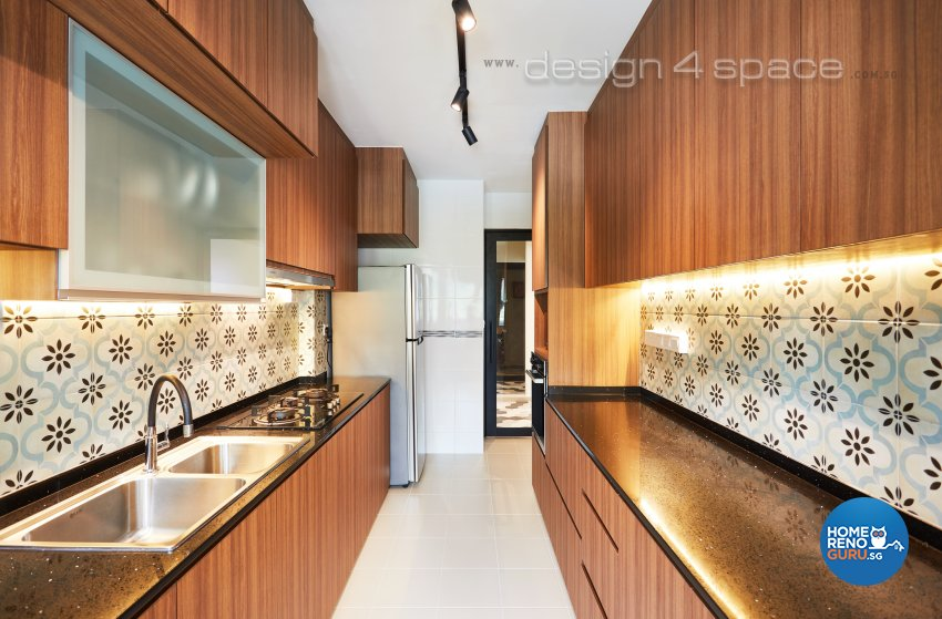 Contemporary, Industrial, Scandinavian Design - Kitchen - HDB 4 Room - Design by Design 4 Space Pte Ltd