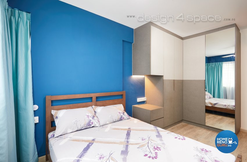 Contemporary, Industrial, Scandinavian Design - Bedroom - HDB 4 Room - Design by Design 4 Space Pte Ltd