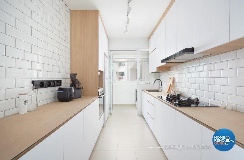 Contemporary, Scandinavian Design - Kitchen - HDB 4 Room - Design by Design 4 Space Pte Ltd