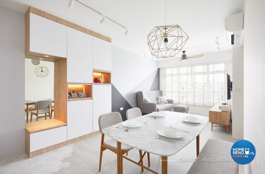 Contemporary, Scandinavian Design - Dining Room - HDB 4 Room - Design by Design 4 Space Pte Ltd