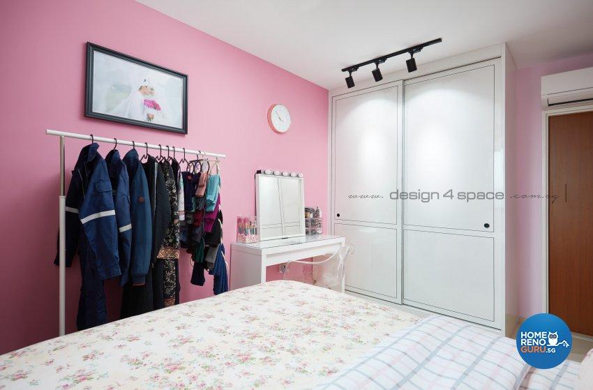 Minimalist, Victorian Design - Bedroom - HDB 4 Room - Design by Design 4 Space Pte Ltd
