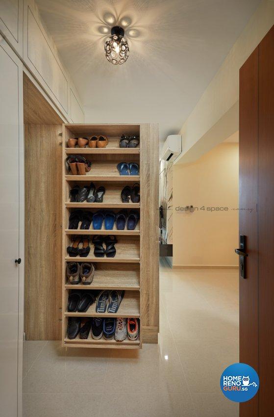 Minimalist, Victorian Design - Living Room - HDB 4 Room - Design by Design 4 Space Pte Ltd