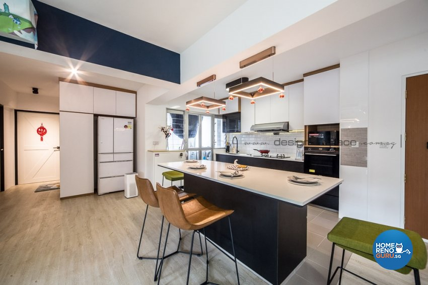Contemporary, Modern, Scandinavian Design - Kitchen - Condominium - Design by Design 4 Space Pte Ltd