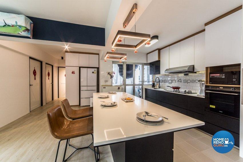 Contemporary, Modern, Scandinavian Design - Kitchen - Condominium - Design by Design 4 Space Pte Ltd
