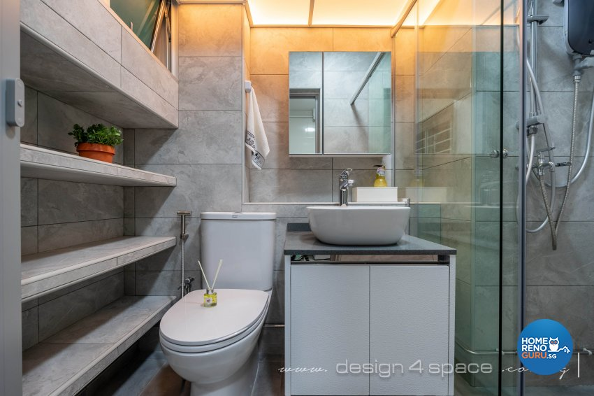 Scandinavian Design - Bathroom - HDB 4 Room - Design by Design 4 Space Pte Ltd