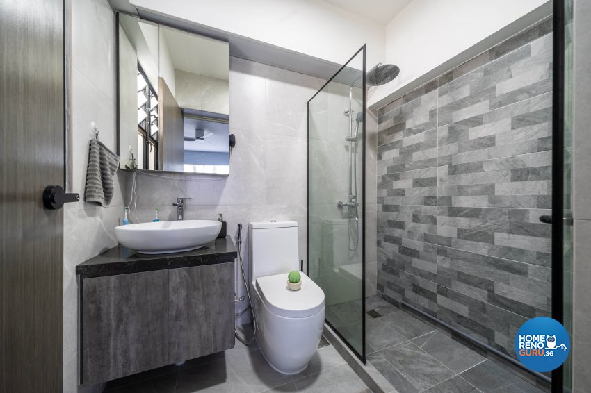 Minimalist Design - Bathroom - HDB 4 Room - Design by Design 4 Space Pte Ltd