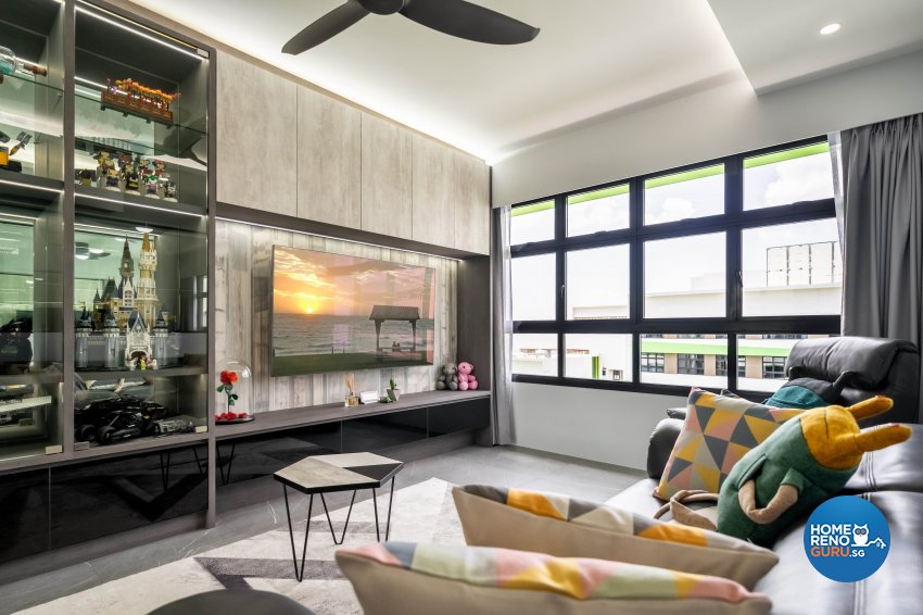 Minimalist Design - Living Room - HDB 4 Room - Design by Design 4 Space Pte Ltd