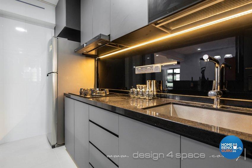 Modern Design - Kitchen - HDB 4 Room - Design by Design 4 Space Pte Ltd