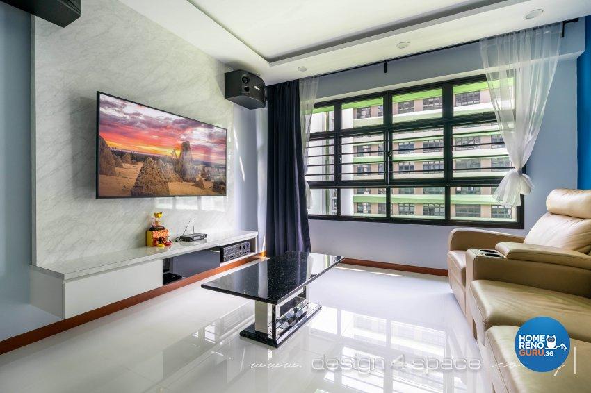 Modern Design - Living Room - HDB 4 Room - Design by Design 4 Space Pte Ltd