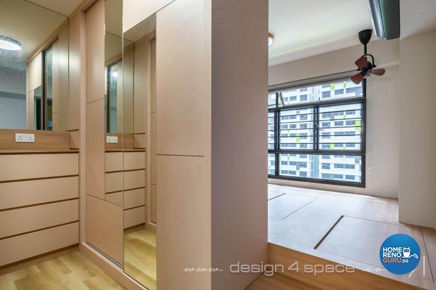 Contemporary, Modern Design - Bedroom - HDB 4 Room - Design by Design 4 Space Pte Ltd