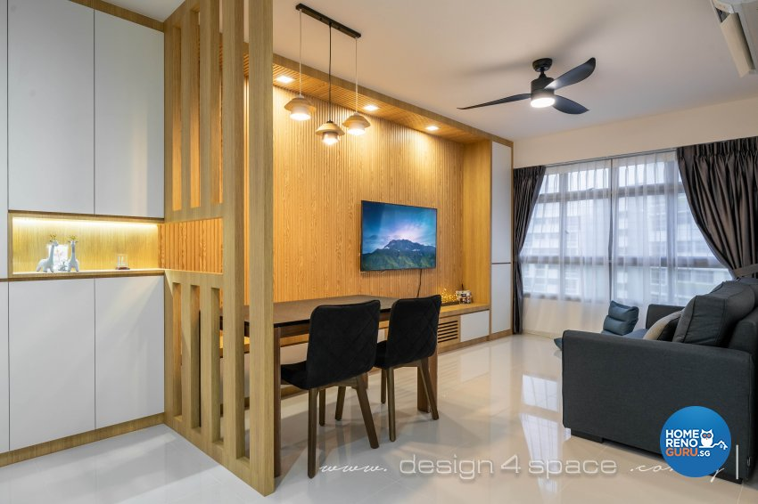 Minimalist, Modern Design - Living Room - HDB 4 Room - Design by Design 4 Space Pte Ltd