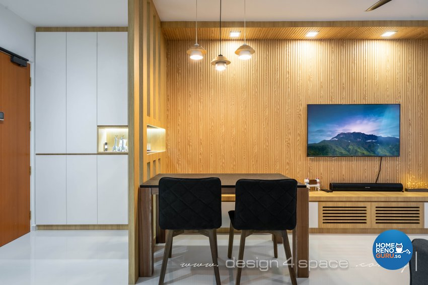 Minimalist, Modern Design - Dining Room - HDB 4 Room - Design by Design 4 Space Pte Ltd