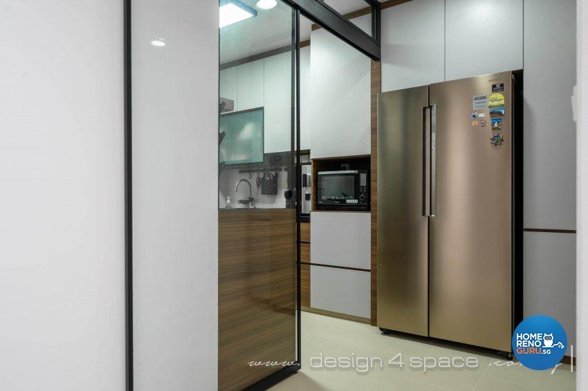 Minimalist, Modern Design - Kitchen - HDB 4 Room - Design by Design 4 Space Pte Ltd