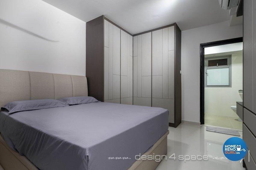 Minimalist, Modern Design - Bedroom - HDB 4 Room - Design by Design 4 Space Pte Ltd