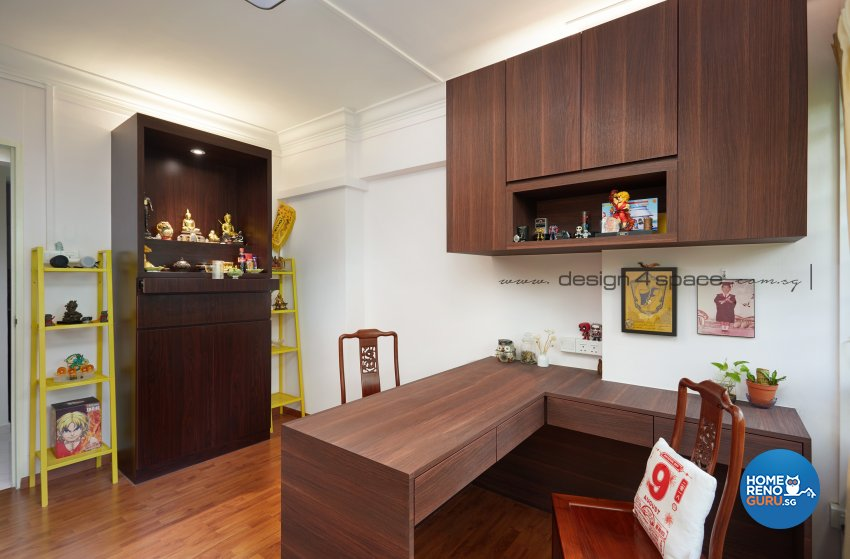 Contemporary Design - Study Room - HDB 4 Room - Design by Design 4 Space Pte Ltd