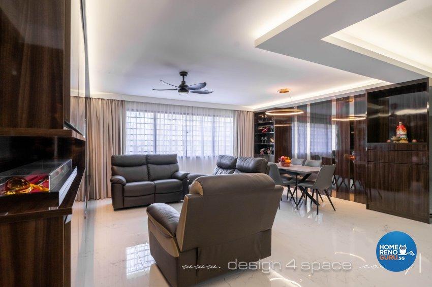 Contemporary Design - Living Room - HDB 4 Room - Design by Design 4 Space Pte Ltd