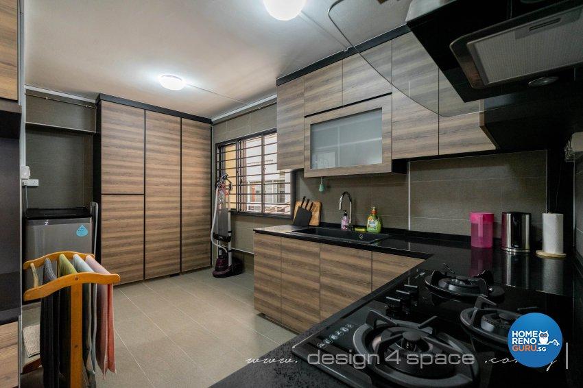 Contemporary Design - Kitchen - HDB 4 Room - Design by Design 4 Space Pte Ltd