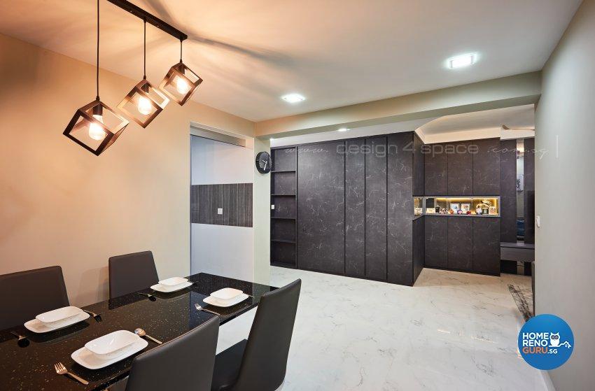 Contemporary, Minimalist, Modern Design - Dining Room - HDB 4 Room - Design by Design 4 Space Pte Ltd
