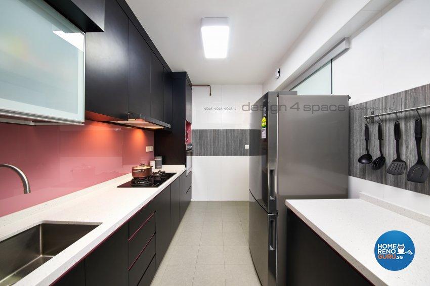 Contemporary, Minimalist, Modern Design - Kitchen - HDB 4 Room - Design by Design 4 Space Pte Ltd