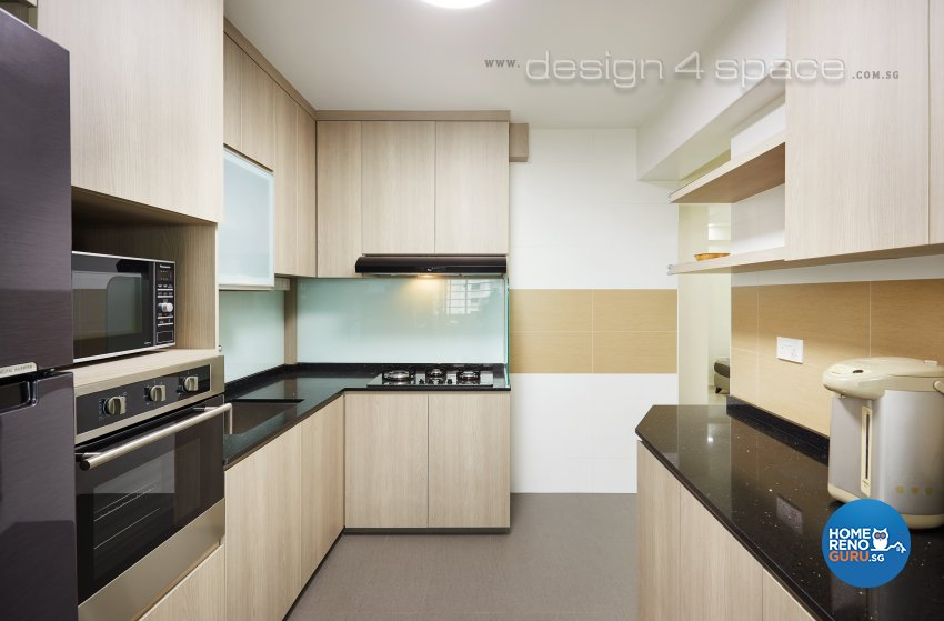 Contemporary Design - Kitchen - HDB 4 Room - Design by Design 4 Space Pte Ltd