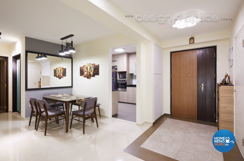 Contemporary Design - Dining Room - HDB 4 Room - Design by Design 4 Space Pte Ltd