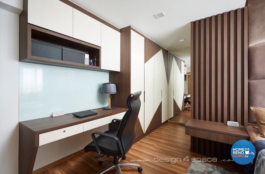 Modern Design - Bedroom - HDB 4 Room - Design by Design 4 Space Pte Ltd