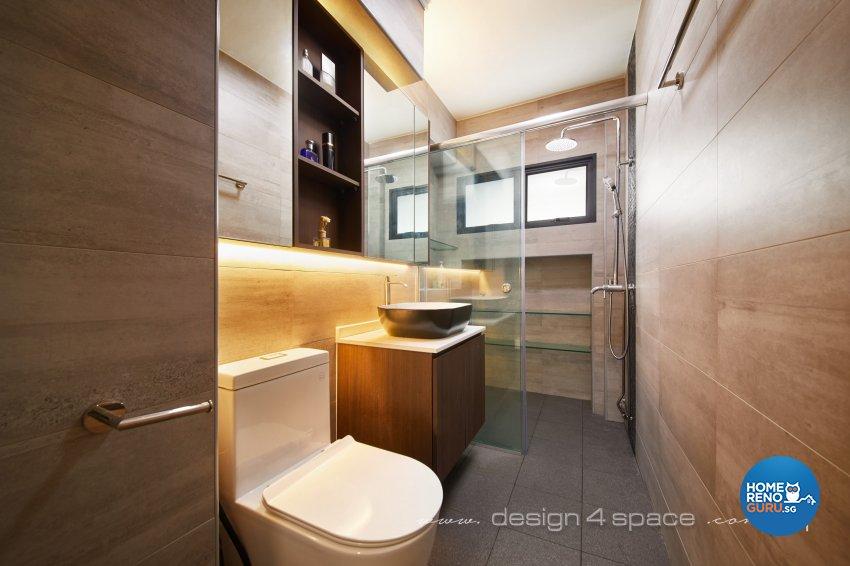 Modern Design - Bathroom - HDB 4 Room - Design by Design 4 Space Pte Ltd