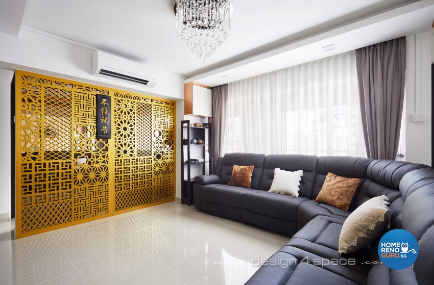 Modern Design - Living Room - HDB 4 Room - Design by Design 4 Space Pte Ltd