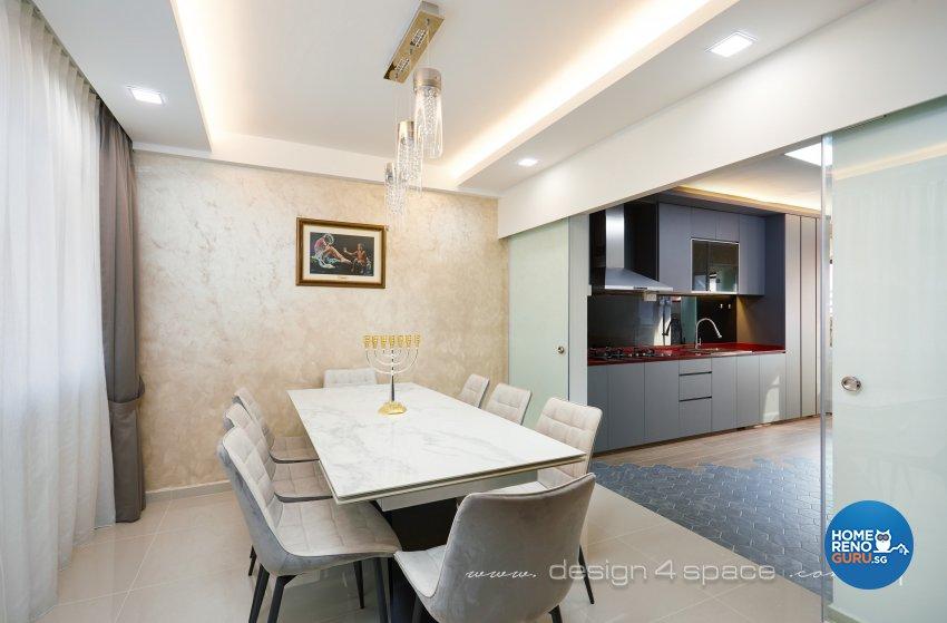Modern Design - Dining Room - HDB 4 Room - Design by Design 4 Space Pte Ltd