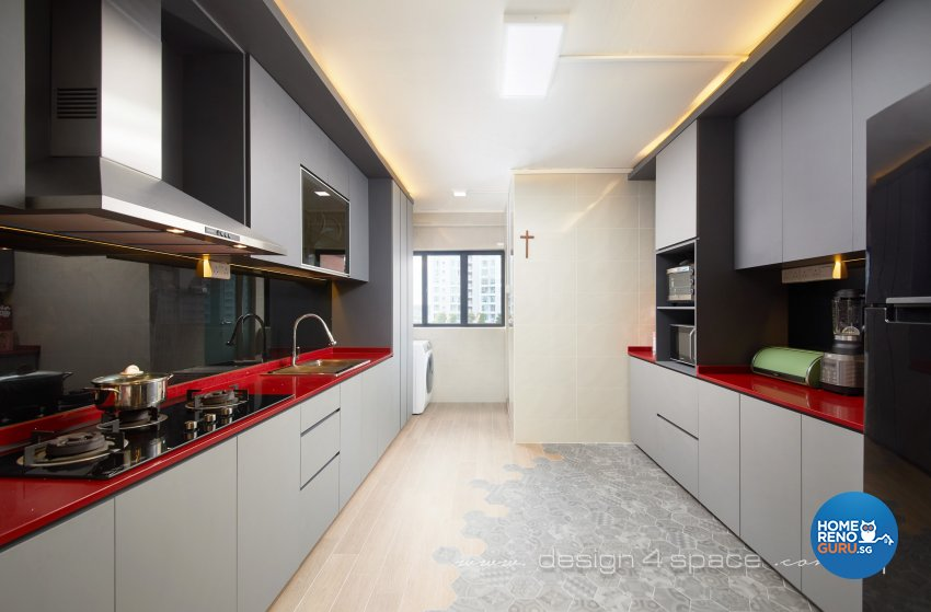 Modern Design - Kitchen - HDB 4 Room - Design by Design 4 Space Pte Ltd