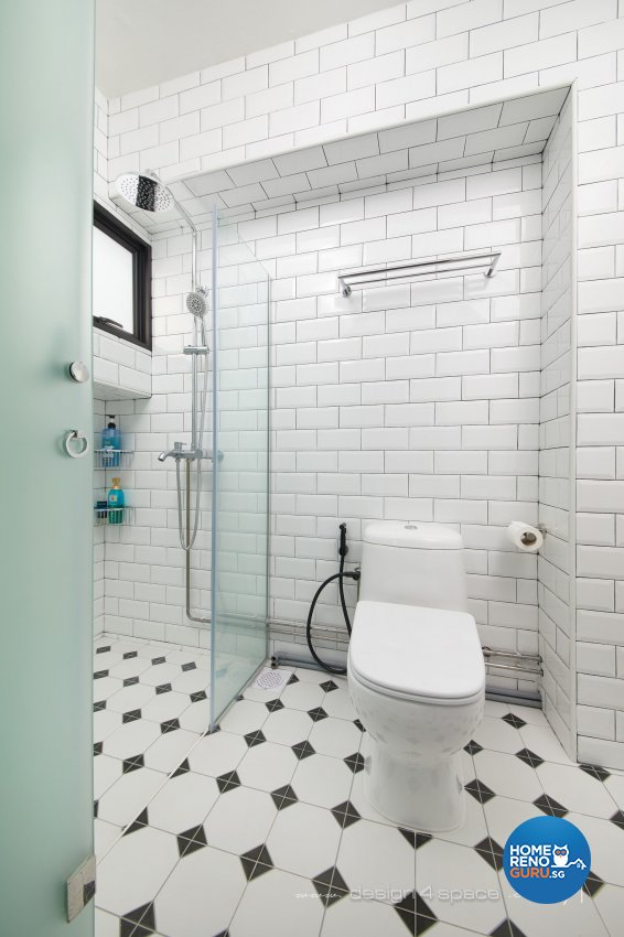 Modern Design - Bathroom - HDB 4 Room - Design by Design 4 Space Pte Ltd