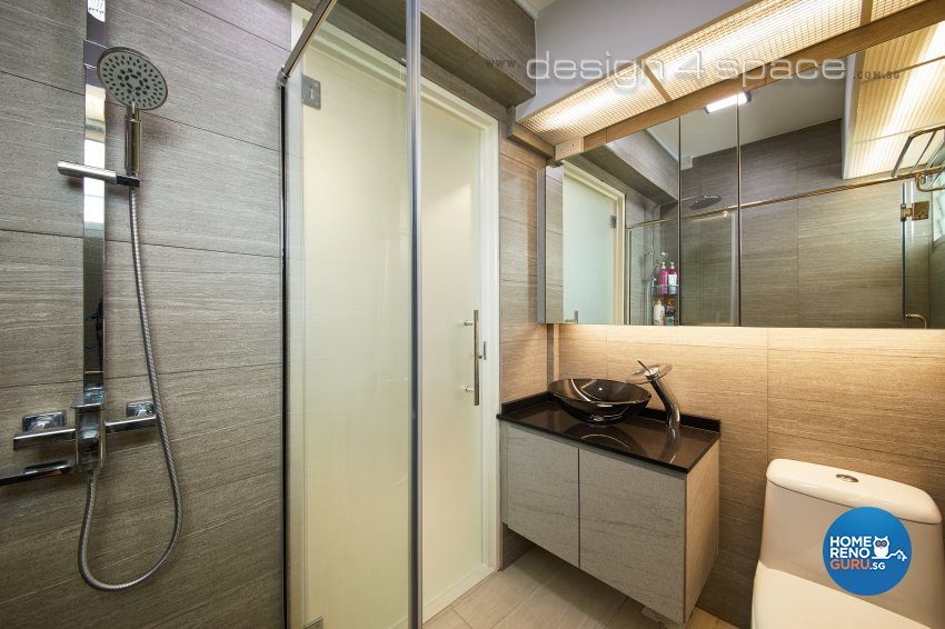 Contemporary, Minimalist Design - Bathroom - HDB 4 Room - Design by Design 4 Space Pte Ltd
