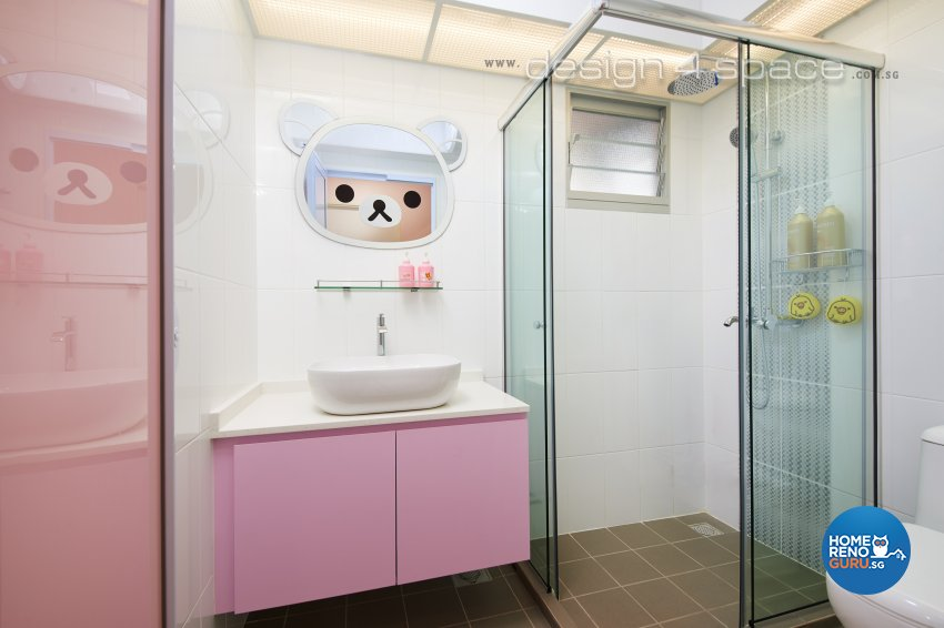 Contemporary, Minimalist Design - Bathroom - HDB 4 Room - Design by Design 4 Space Pte Ltd