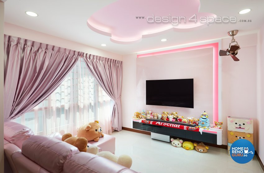 Contemporary, Minimalist Design - Living Room - HDB 4 Room - Design by Design 4 Space Pte Ltd