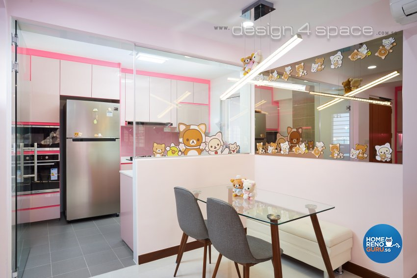 Contemporary, Minimalist Design - Dining Room - HDB 4 Room - Design by Design 4 Space Pte Ltd