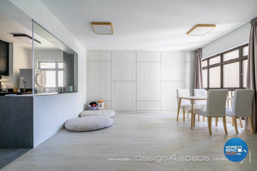 Minimalist Design - Dining Room - HDB 4 Room - Design by Design 4 Space Pte Ltd
