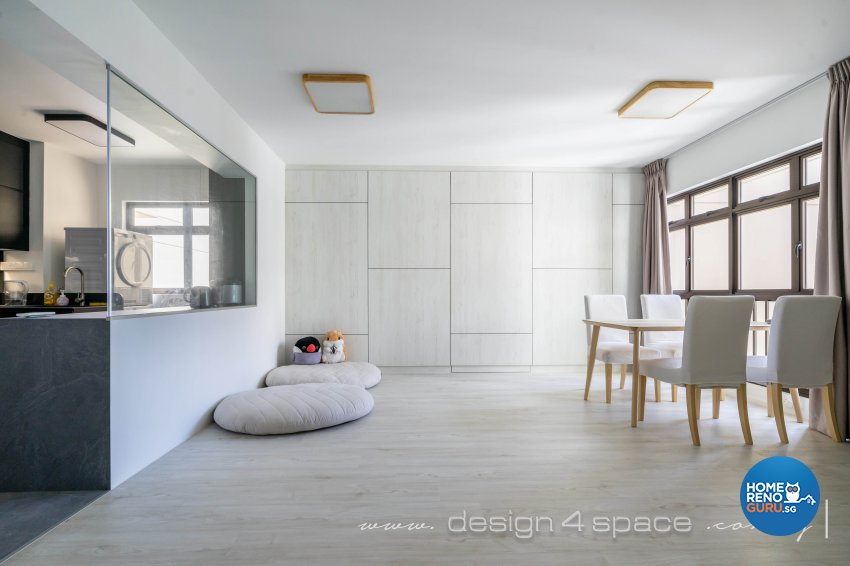 Minimalist Design - Dining Room - HDB 4 Room - Design by Design 4 Space Pte Ltd