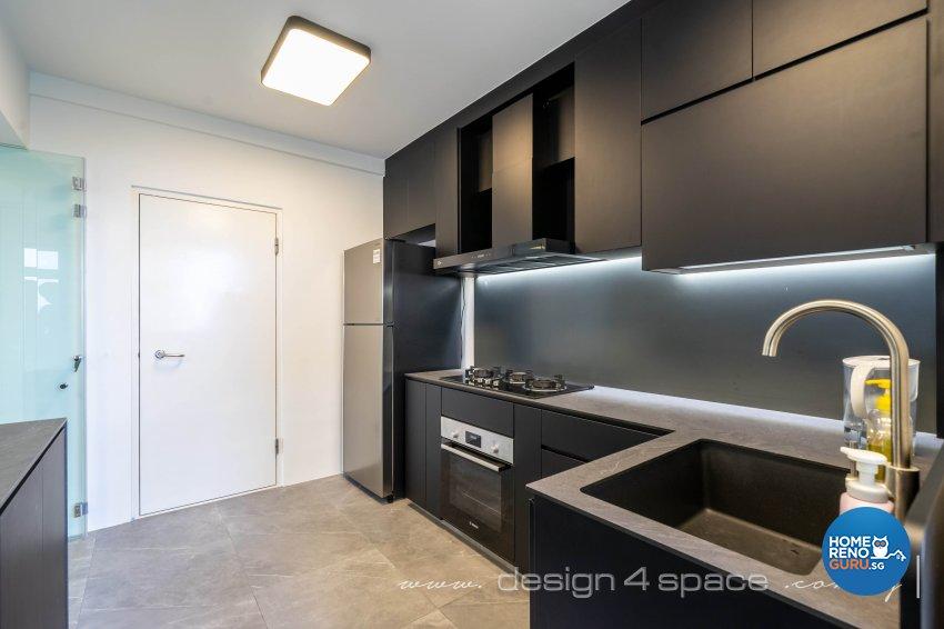 Minimalist Design - Kitchen - HDB 4 Room - Design by Design 4 Space Pte Ltd