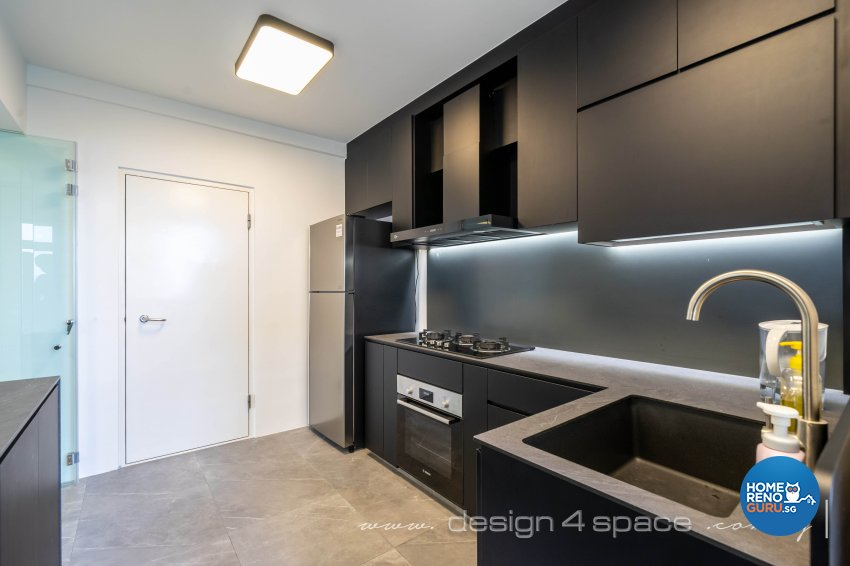 Minimalist Design - Kitchen - HDB 4 Room - Design by Design 4 Space Pte Ltd