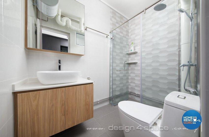 Contemporary, Modern Design - Bathroom - HDB 4 Room - Design by Design 4 Space Pte Ltd
