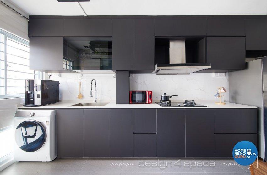Contemporary, Modern Design - Kitchen - HDB 4 Room - Design by Design 4 Space Pte Ltd