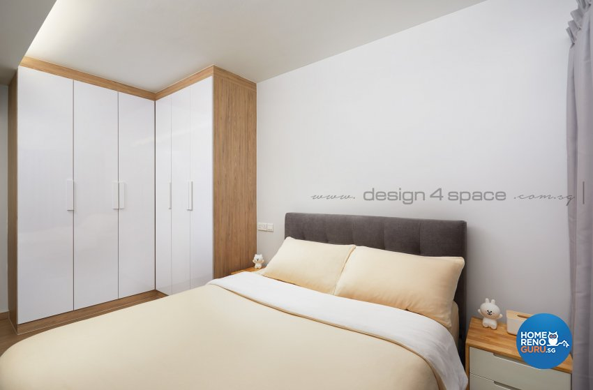 Scandinavian Design - Bedroom - HDB 4 Room - Design by Design 4 Space Pte Ltd