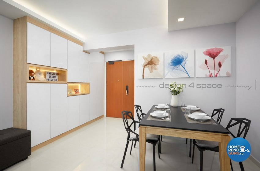 Scandinavian Design - Dining Room - HDB 4 Room - Design by Design 4 Space Pte Ltd