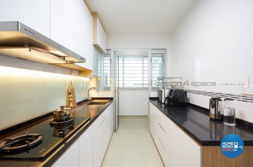 Scandinavian Design - Kitchen - HDB 4 Room - Design by Design 4 Space Pte Ltd