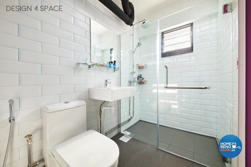 Contemporary, Modern Design - Bathroom - HDB 4 Room - Design by Design 4 Space Pte Ltd