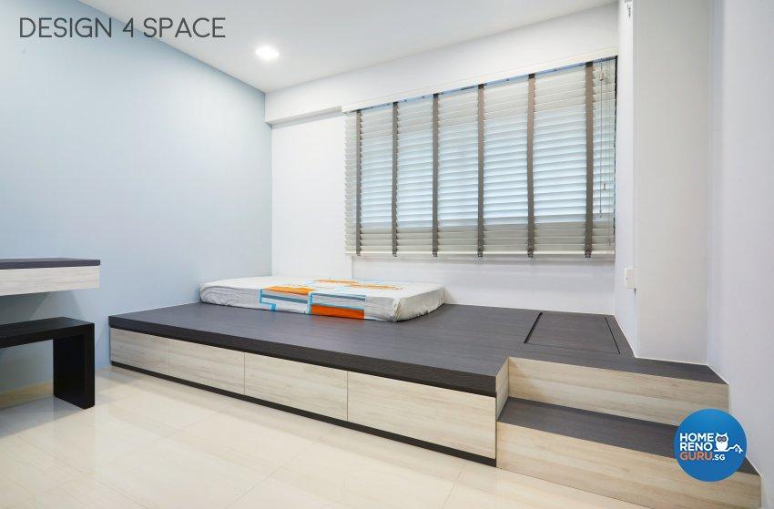 Contemporary Design - Bedroom - HDB 4 Room - Design by Design 4 Space Pte Ltd