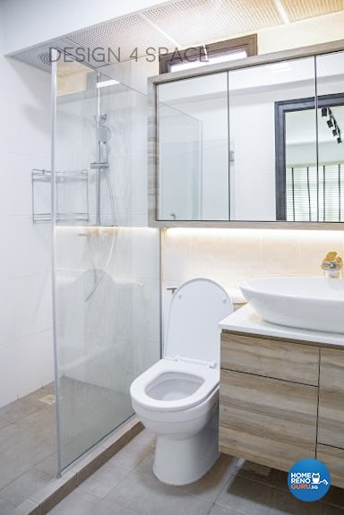 Minimalist, Modern, Scandinavian Design - Bathroom - HDB 4 Room - Design by Design 4 Space Pte Ltd
