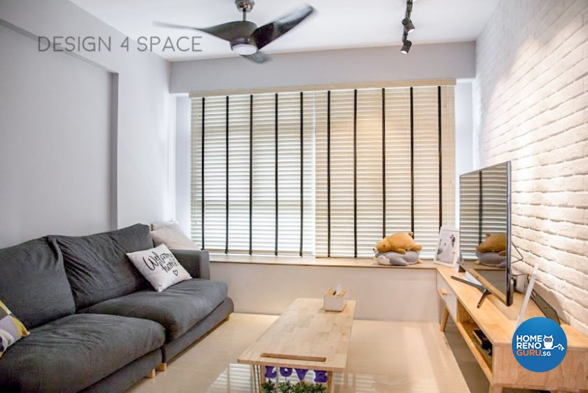 Minimalist, Modern, Scandinavian Design - Living Room - HDB 4 Room - Design by Design 4 Space Pte Ltd